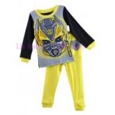 ชุดนอนเด็ก : ชุดนอนผ้าคอตตอนเนื้อดีผสมสแปนเด็กซ์ ลาย transformer ผ้านิ่ม  PJ-5710430