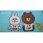 ลิขสิทธิ์แท้ ผ้าขนหนู ลาย Sticker LINE บราวน์ และ โคนี่ Brown  Cony
