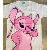 ลิขสิทธิ์แท้ เสื้อยืด พื้นขาว ผ้าคอตต้อน สติช Stitch ไซด์ XL สติช เท่ากับ F นะคะ เด็กโต ผู้ใหญ่ไซด์