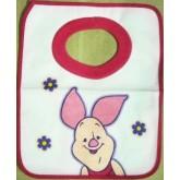 ผ้ากันเปื้อน ด้านในเป็นผ้ายาง ด้านนอกเป็นผ้ายืด ซักได้ สำหรับเด็กเล็ก ทารก
