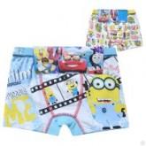 กางเกงในเด็ก : กางเกงใน boxer ผ้าคอตตอนยืด 100 ลาย Minion แพ็คคู่