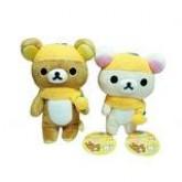 สินค้าลิขสิทธิ์ Rilakkuma Korilakkuma Mikan Boushi San-X คู่ตุ๊กตาหมีรีลัคคุมะ กับโคริลัคคุมะ สวมหมว