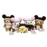 สินค้าลิขสิทธิ์ RilakkumaSan X Rilakkuma Korilakkuma Kiiroitori Attaka Set เซ็ตตุ๊กตาหมีใส่หมวกกันหน