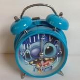 นาฬิกาปลุกแบบตั้งโต๊ะ ลาย สติช Stitch เส้นผ่าศูนย์กลาง หน้าปัด 3.5x3.5 นิ้ว