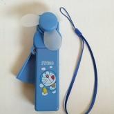 พัดลมพก โดราเอม่อน Doraemon มีสายคล้องมือ คล้องกระเป๋าได้ค่ะ ไม่ใช้ถ่าน กดด้างข้างเพื่อให้พัดลมหมุนค