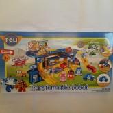 ของเล่น ใหม่ จากเกาหลี Robocar Poli ชุดรถราง พร้อมรถ 5 คัน