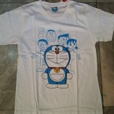 เสื้อยืด แขนสั้น ผ้าคอตต้อน ลาย โดเรม่อน Doraemon Freesize ผู้ใหญ่ เด็กโต F อก 37 ยาว 25นิ้ว