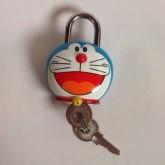 แม่กุญแจ พร้อมลูกกุญแจ สำหรับติด กระเป๋า กระเป๋าเดินทาง ตู้ หรือ อื่น ๆ ลาย โดเรม่อน (Doraemon)