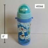 กระติกน้ำ มีหลอดในตัว มีสายสะพาย (สายถอดได้คะ) PBA Free ลาย โดราเอม่อน Doraemon ขนาดสูง 8 นิ้ว