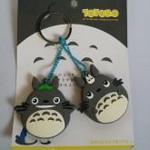อุปกรณ์ แต่งรถ พวงกุญแจ หุ้มหัวกุญแจ หุ้มกุญแจได้ 2 อัน ลาย โตโตโร่ (Totoro)