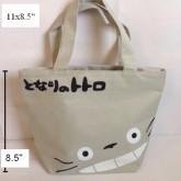 กระเป๋าถือ (ผ้า) ลาย totoro โตโตโร่ ขนาด 11x8.5 นิ้ว ปากกระเป๋ามีซิป ค่ะ