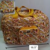 กระเป๋าเดินทาง ใช้ สายสะพาย และ หูหิ้วสำหรับถือ ได้คะกระเป๋าถือ พับได้ ลาย กุเดทามะ Gudetama ไข่แดงข