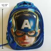 เป้ สะพายหลัง avenger อเวนเจอร์ Captain America กัปตันอเมริกา ขนาด 10x12.5 นิ้ว ตัวโล่กัปตัน เป็น 3