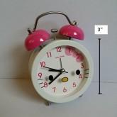 นาฬิกาปลุก ลาย คิตตี้ Kitty หน้าปัดเส้นผ่าศูนย์กลาง 3 นิ้ว
