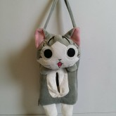 ที่ใส่ทิชชู่ กล่อง มีสายไว้แขวนในรถได้ค่ะ ลาย แมวจี้จัง Chi Cat