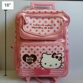 เป้ ล้อลาก กระเป๋าล้อลาก Kitty ใบใหญ่ ขนาด 12.5x16x5 นิ้ว