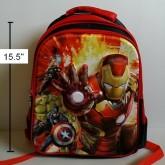 เป้ อเวนเจอร์ Avengers ตัวไอร่อนแมน และฮักค์ ด้านหน้าเป็นสกรีนนูน ค่ะ ขนาด 11.5x15.5x5 นิ้ว
