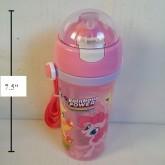 กระติกน้ำ BPA Free ม้าน้อย โพนี่ (My Little Pony) มีหลอดในตัว ถอดสายได้ ขนาดสูง 7.5 นิ้ว