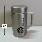 แก้วฝาปิด กระติกเก็บร้อน เย็น Starbucks สตาร์บัค เปิดฝาดื่มเลย มีที่กรองชาให้ด้วยคะ ข้างในเป็นสแตนเล