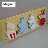แม็กเน็ต Magnet แม่เหล็ก (ไม้) ติด ตู้เย็น ติดบอร์ด เพื่อฝากโน๊ต หรือ ประดับตกแต่ง ลาย มูมิน Moomin