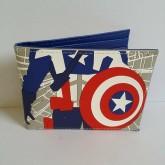 กระเป๋าสตางค์หนัง ลาย อเวนเจอร์ Avengers (Captain America กัปตัน อเมริกา) ขนาด 4.5x3.5 นิ้ว