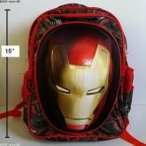 เป้ ไอร่อนแมน iron man ตัวไอร่อนแมน เป็นสกรีนนูน ค่ะ ขนาด 11x15x5 นิ้ว