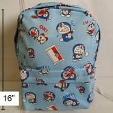 เป้ ผ้า สะพายหลัง ลาย โดราเอม่อน Doraemon ขนาด 11x16 นิ้ว