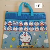 ซองซิป ผ้าร่ม มีหูหิ้ว ขนาด ขนาด 14x12นิ้ว โดราเอม่อน Doraemon