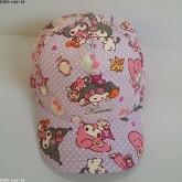 หมวกแก๊ป my melody มายเมโลดี้ ด้านหลัง ขยายได้นิดหน่อยค่ะ ขนาดรอบหมวก 23 นิ้ว สำหรับเด็กโต ผู้ใหญ่ใส