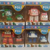 ของเล่น Robocar Poli Transformer ในเซ็ตมี 8 ตัว 1.ตัวใหญ่ 4 ตัว เป็นหุ่นยนต์แปรงร่าง ขนาดสูง 4.5 นิ้