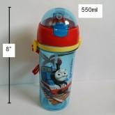 กระติกน้ำ Thomas โทมัส มีหลอดในตัว ถอดสายได้ PBA Free ขนาดสูง 8 นิ้ว ความจุ 550ml