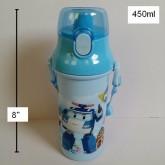 กระติกน้ำ โรโบคาร์ Robocar Poli แบบเทดื่ม ถอดสายได้ ขนาดสูง 8 นิ้ว ความจุ 450ml
