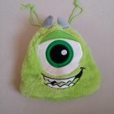 ถุงหูรูด ลาย มอนสเตอร์ อิงค์ Monsters Inc. Mike ไมค์ ใส่เครื่องสำอาง ของกระจุ๊กกระจิ๊ก ก็ได้ค่ะ ขนาด