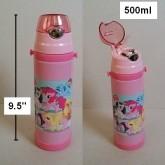 กระติกเก็บร้อน เย็น ลาย ม้าน้อย โพนี่ (My Little Pony) มีหลอดในตัว สูง 8.5 นิ้ว หลอดเป็นหลอดนิ่มค่ะ