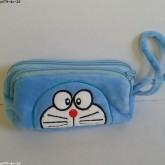 ซองดินสอซิป 2 ช่อง ลาย โดเรม่อน Doraemon ขนาด 7x3.5x1.5 นิ้ว