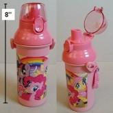 กระติกน้ำ ม้าน้อย โพนี่ (My Little Pony) แบบเทดื่ม ถอดสายได้ ขนาดสูง 8 นิ้ว