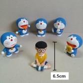 Doraemon Model โมเดล โดเรม่อน ตัวที่สูงที่สุด สูง 6.5 ซม. 1 set มี 6 ตัว