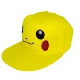 หมวกแฟชั่นลายการ์ตูน ปีกาจู สีเหลือง สามารถปรับระดับความกว้างของหมวกได้ ผู้ใหญ่หรือเด็กโตใส่ได้ค่ะ