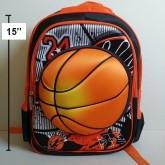 เป้ ลายบาสเก็ตบอล Basketball ตัวลูกบอล เป็นตัวนูน ค่ะ ขนาด 12x15x4 นิ้ว