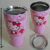 แก้วเก็บร้อนเย็น คิตตี้ Kitty ขนาดสูง 8 นิ้ว