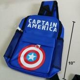 เป้สะพายเฉียง กระเป๋าคาดอก Shoulder bag ลาย Captain America กัปตันอเมริกา ขนาด 6x10x3 นิ้ว