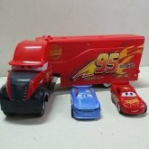 รถบรรทุกคาร์คันใหญ่ พร้อมรถคันเล็ก 2 คัน Car Mcqueen คาร์ แม็คควีน ขนาดรถบรรทุกยาว 12 นิ้ว ขนาดรถเล