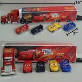 รถบรรทุกคาร์ พร้อมรถคันเล็ก 4 คัน Car Mcqueen คาร์ แม็คควีน ขนาดรถบรรทุกยาว 14 นิ้ว ขนาดรถเล็ก ยาว 2