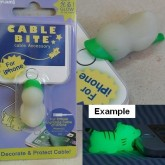 Cable Bites เรืองแสง ตัวล็อคหัวสายไฟ กันสายไฟ สายชาร์ต ขาด หรือ หัก