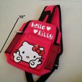 เป้สะพายเฉียง กระเป๋าคาดอก Shoulder bag ลาย คิตตี้ Kitty ขนาด 6x10x3 นิ้ว