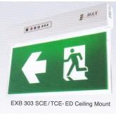 ป้ายทางออกทางหนีไฟฉุกเฉินหนึ่งหน้าแบบแขวนลอยหลอด LED หน้าเดียว รุ่น EXB 303SCE-ED ยี่ห้อMaxbright