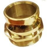 ข้อต่อแปดเหลียมชนิดสวมเร็วตัวผู้ / เกลียววัสดุทองเหลือง 2.5 นิ้ว