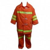 ชุดซ้อมดับเพลิงเสื้อ-กางเกง ผ้า Cotton มีซับใน ขนาด Free Size