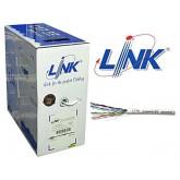 สายแลนLINK CAT 5E UTP Enhanced Cable (350 MHz) ราคาถูกมาก ชนิด CAT5E CM ราคาถูก