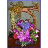 กระเช้าดอกไม้รวม(flower basket)